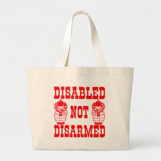 Disabled Not Disarmed 2nd Amendment Guns Large Tote Bag