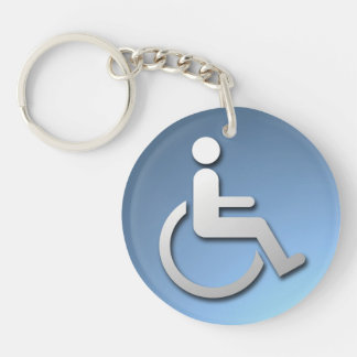Disabled Person Double-Sided Round Acrylic Keychain