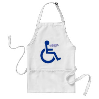 disabled sign standard apron