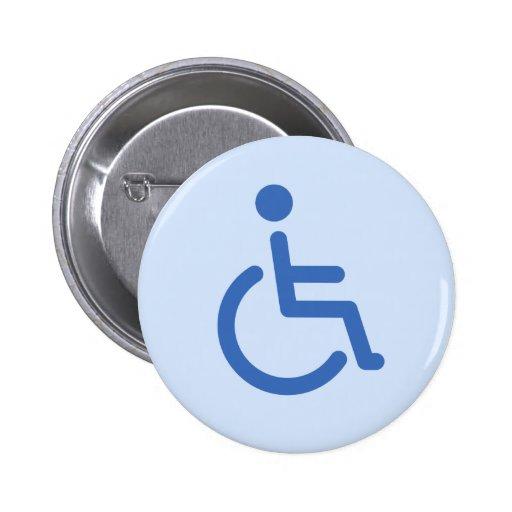 Disabled symbol or blue handicap sign button