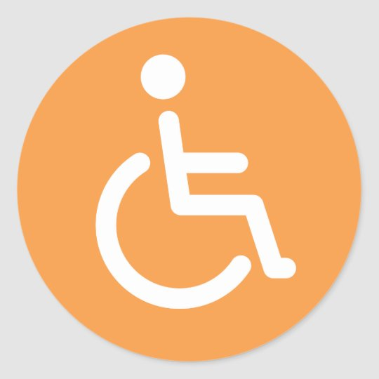Disabled symbol stickers
