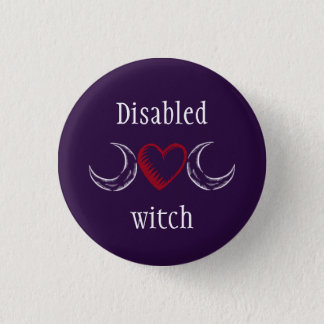 Disabled witch 1 inch round button