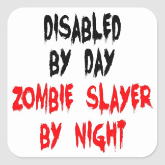 Disabled Zombie Slayer Square Sticker