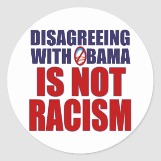 Disagreeing with Obama Classic Round Sticker