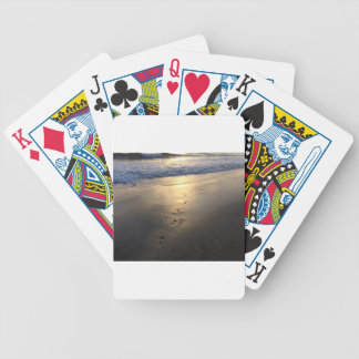 Disappearing Footprints Bicycle Playing Cards