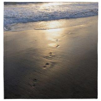 Disappearing Footprints Napkin