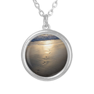Disappearing Footprints Silver Plated Necklace