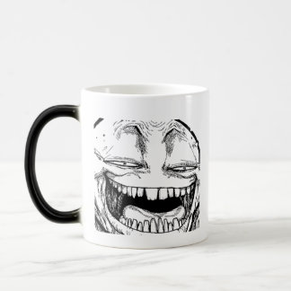Disappearing Smiling Troll Face Coffee Cup Mug