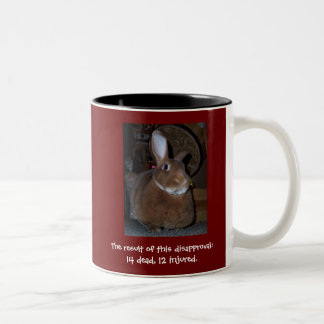 Disapproving Rabbits Mug 2