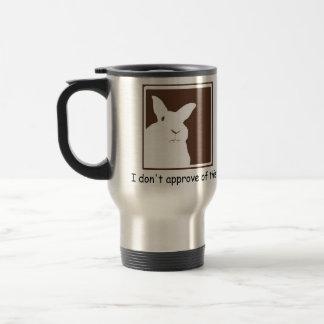 Disapproving Rabbits Travel Mug