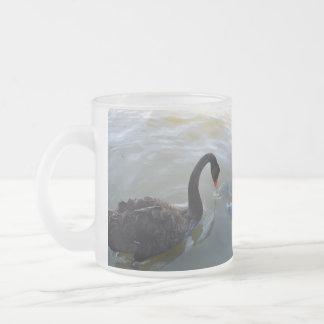 Disbelief,_Black_Swan_Giant Fish_Glass-Beer_Mug Frosted Glass Coffee Mug