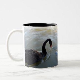 Disbelief,_Black_Swan_Giant Fish_Toned_Coffee_Mug Two-Tone Coffee Mug