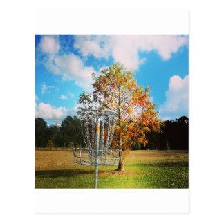 "Disc Golf Basket ""Fall in Florida Postcard"