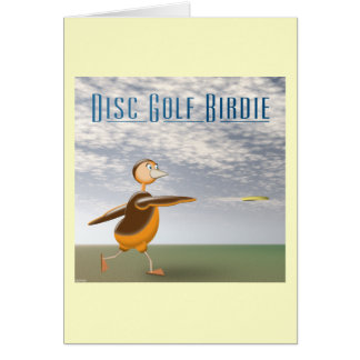 Disc Golf Birdie Card