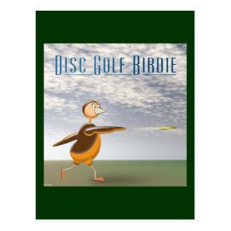 Disc Golf Birdie Post Card