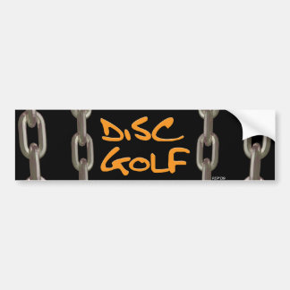 Disc Golf Bumper Sticker