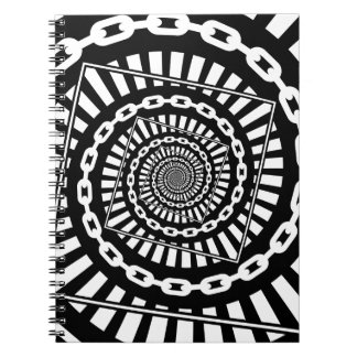 Disc Golf Chains Spiral Notebook