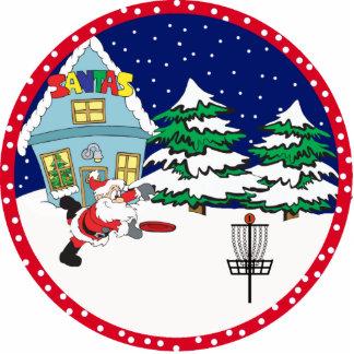 Disc Golf Santa Ornament Photo Sculpture Ornament