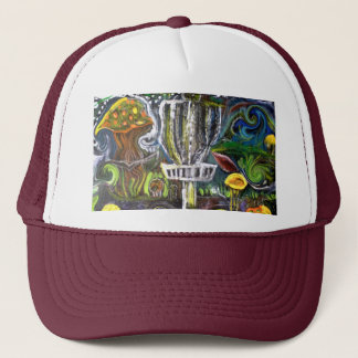 disc golf trip hat .. artwasteland studios