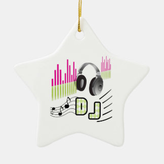 DISC JOCKEY CERAMIC ORNAMENT