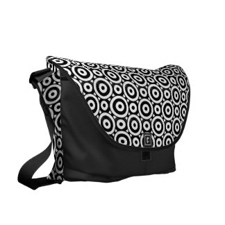 Disc Patterned Courier Bag