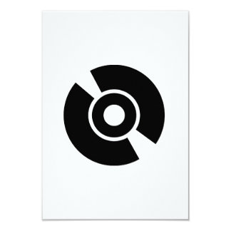 Disc vinyl icon invite