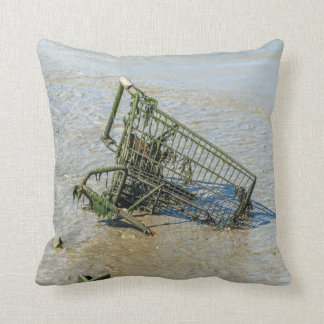 Discarded shopping trolley throw cushion