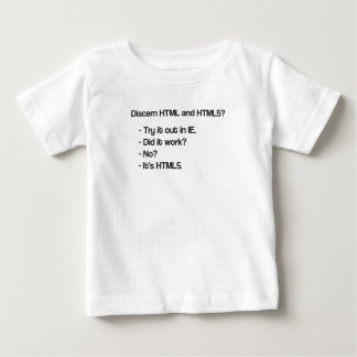 Discern HTML and HTML5 Baby T-Shirt