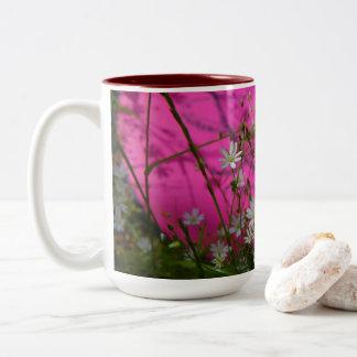 Discgolf morning Two-Tone coffee mug