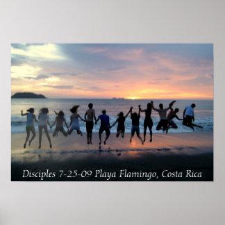 Disciples 7-25-09 Playa Flamingo, Costa Rica Poster