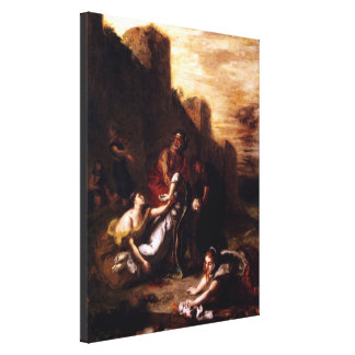 Disciples Carrying Away the Body of Stephen Canvas Print