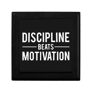 Discipline Beats Motivation - Inspirational Gift Box