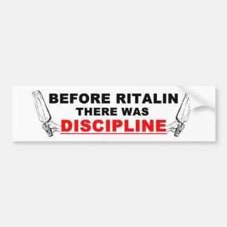 Discipline Bumper Sticker