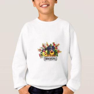 discipline flowers tag sweatshirt