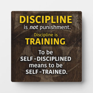 Discipline Is Training - Workout Gym Inspirational Plaque