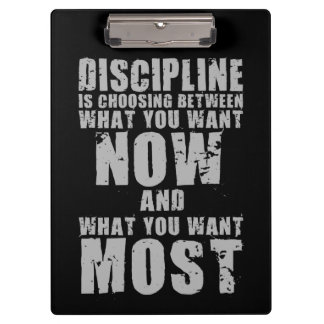 DISCIPLINE - Motivational Words Clipboard