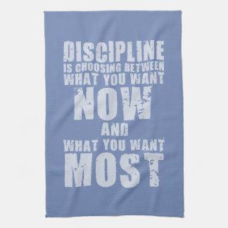 DISCIPLINE - Motivational Words Kitchen Towel