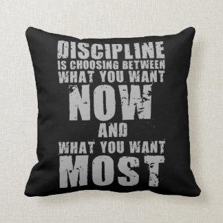 DISCIPLINE - Motivational Words Throw Pillow