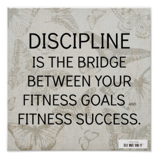 Discipline Quote for Fitness Success Poster