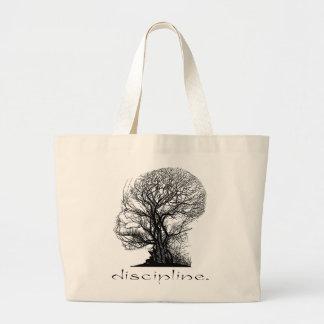 Discipline Tree Large Tote Bag