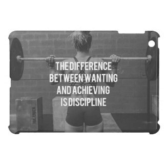 Discipline - Wanting vs Achieving, Women's Fitness iPad Mini Cover