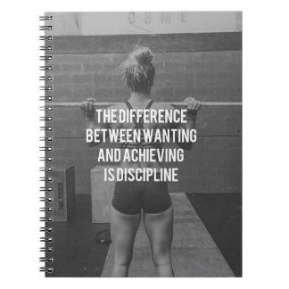 Discipline - Wanting vs Achieving, Women's Fitness Notebook