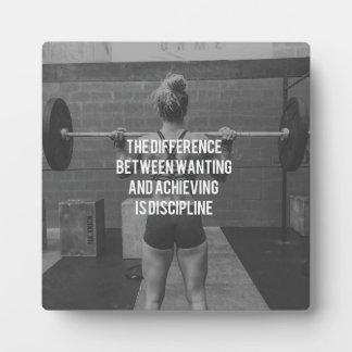 Discipline - Wanting vs Achieving, Women's Fitness Plaque