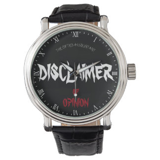 """Disclaimer of Opinion"" Wrist Watches"