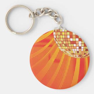 Disco ~ 1980s 80s Disco Ball Basic Round Button Keychain