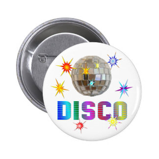 Disco 2 Inch Round Button