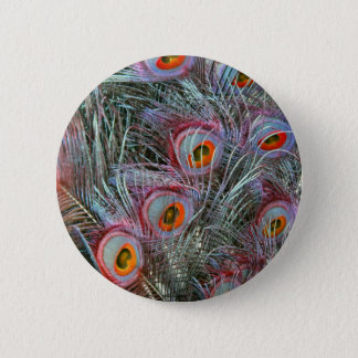 Disco 70s Peacock Eyes 2 Inch Round Button