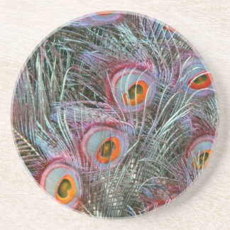Disco 70s Peacock Eyes Coasters