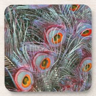 Disco 70s Peacock Eyes Drink Coasters