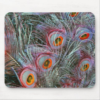 Disco 70s Peacock Eyes Mouse Pad